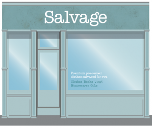 artists impression of Salvage retail brand store front