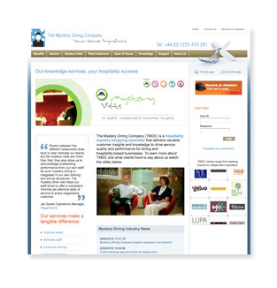 Mystery Dining Company: Web Design