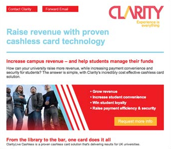 Great ROI from 'cashless software' email campaign